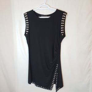 Frank lyman designs tunic with bead trim accent